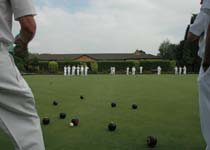 A bowls match being played